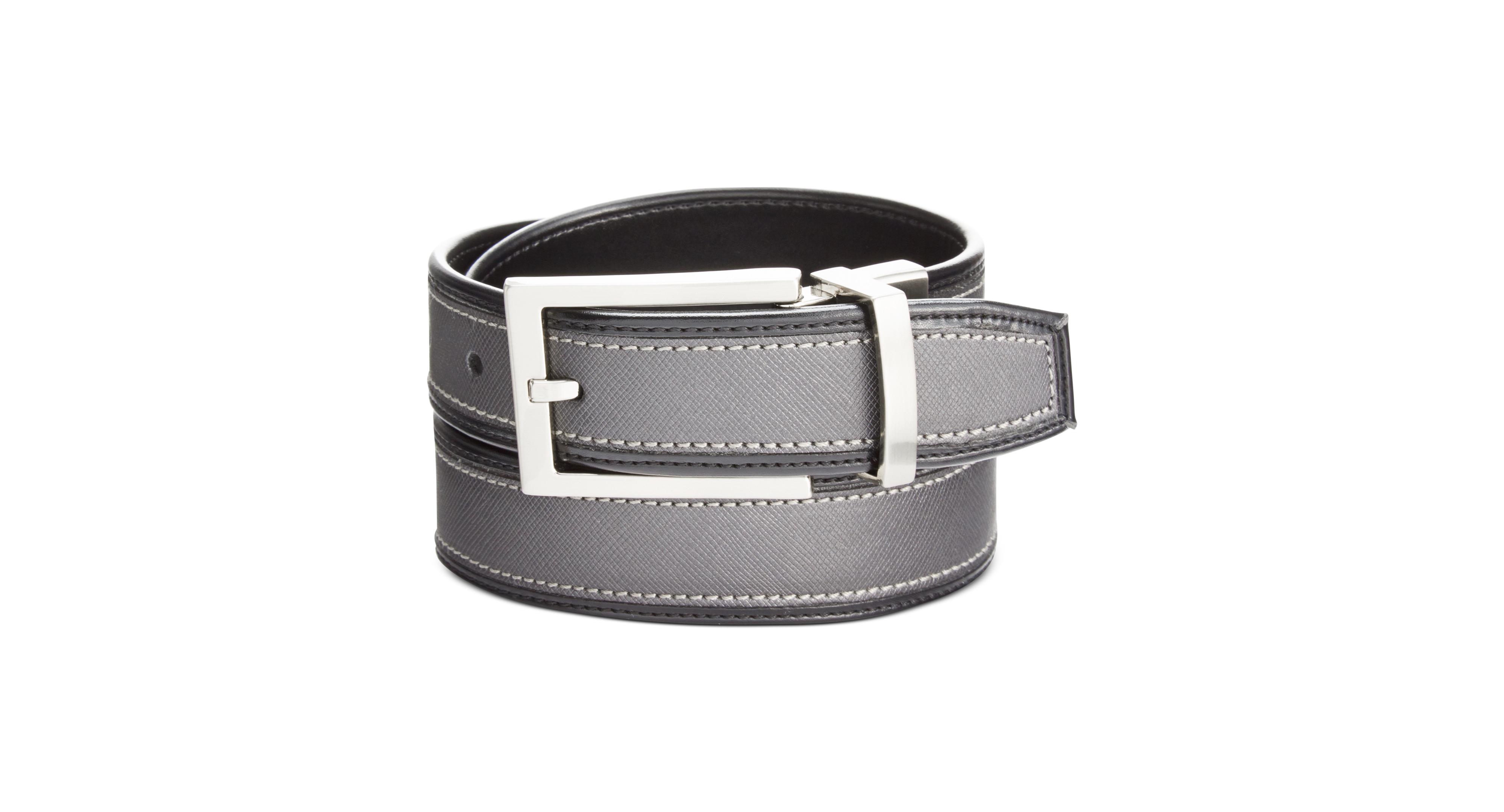 Alfani Textured-Insert Reversible Belt