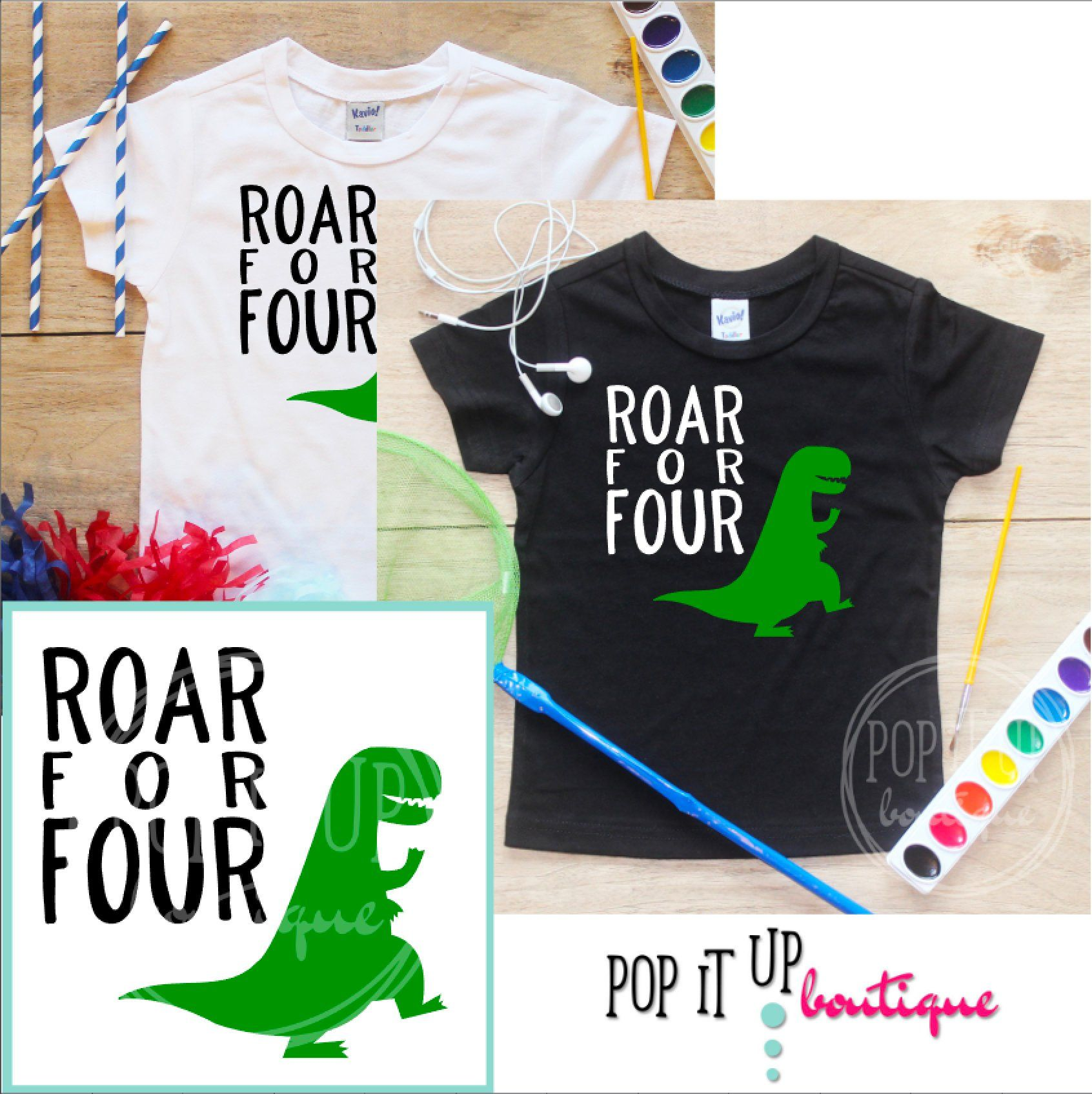 1ce7bbc2c43 Roar for Four Dinosaur Birthday Boy Shirt   Baby Boy Clothes 4 Year Old  Outfit Fourth Birthday TShirt 4th Birthday Boy Party Toddler 303