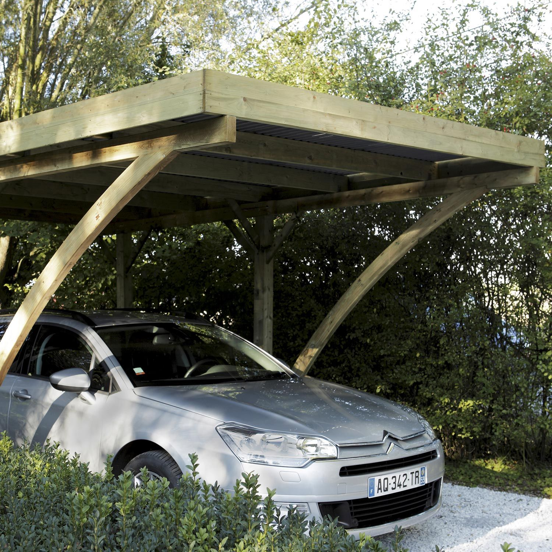 Carport en bois Jardin Terrasse Eté Magasin
