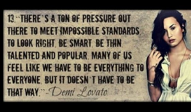 #quoteoftoday #demilovato #stunner #instadaily #beyourself #notopressure #societysucks