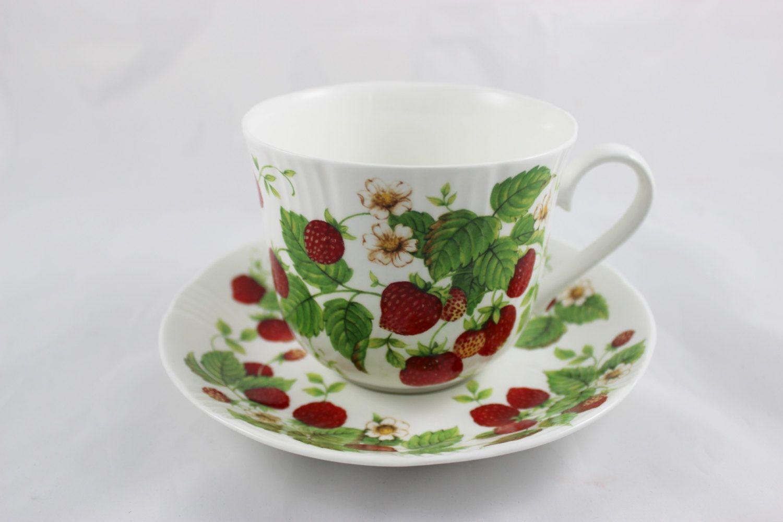Roy Kirkham Strawberry Fruit Garden Jumbo Coffee Cup Saucer By Grctreasures On Etsy