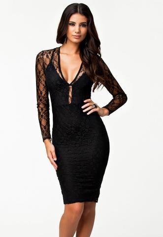 Robes Midi Women Noir Lacy Flirt Prom Robe De Soiree robenoire hiver  modebuy.com