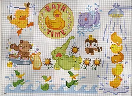 Schemi punto croce per bambini e neonati babies for Farfalle a punto croce per bambini