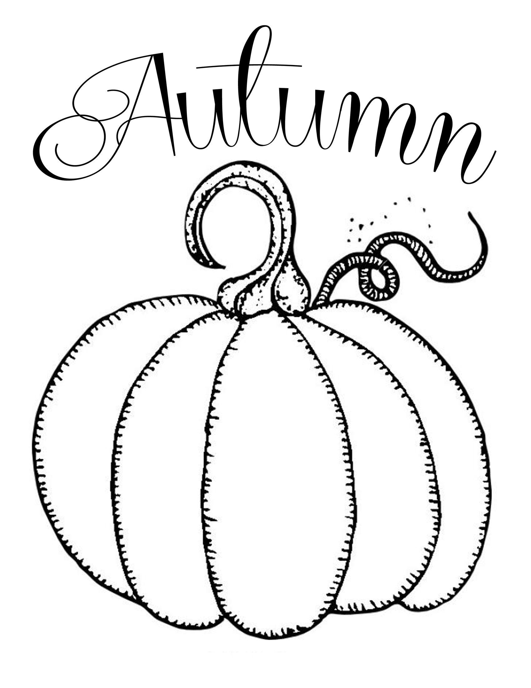 Free Printables Chalkboard Autumn Pumpkin Pumpkin Coloring