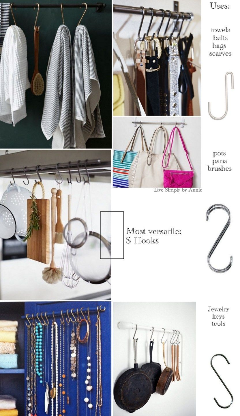 The Best Hooks For Organizing // Live Simply by Annie