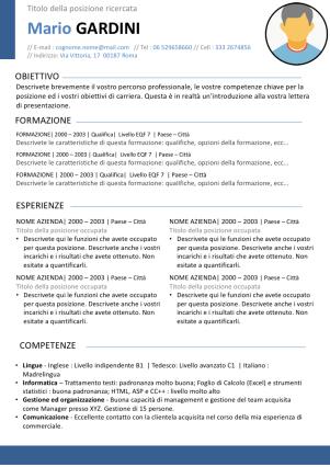 Cv Europeo Modelli Di Curriculum Vitae Gratis Curriculum Vitae Modello Curriculum Curriculum Creativo