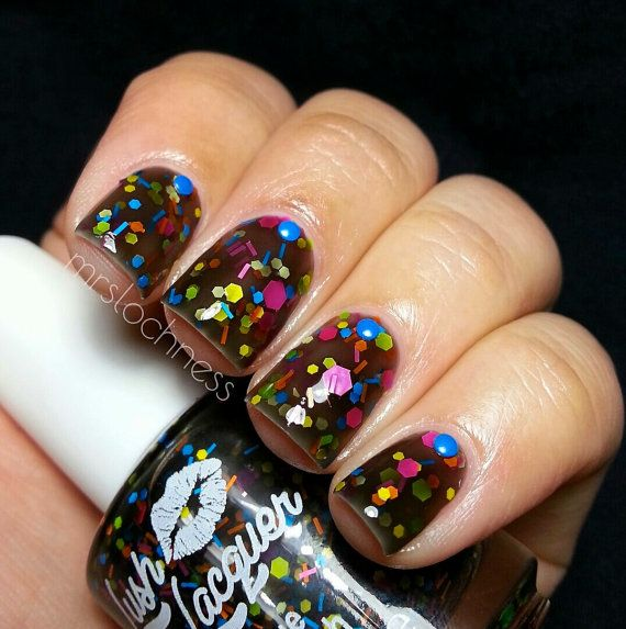 NEW Neon--Vegas Nights:  Custom-Blended NEON Glitter Nail Polish / Lacquer/ indie polish on Etsy, $9.00