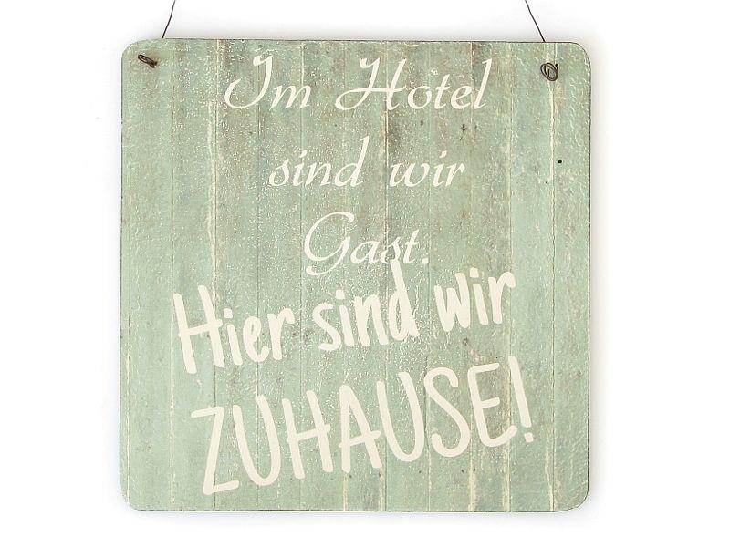 Deko-Objekte - XL IM HOTEL ZUHAUSE Strand Shabby Vintage Schild  - ein Designerstück von Interluxe bei DaWanda