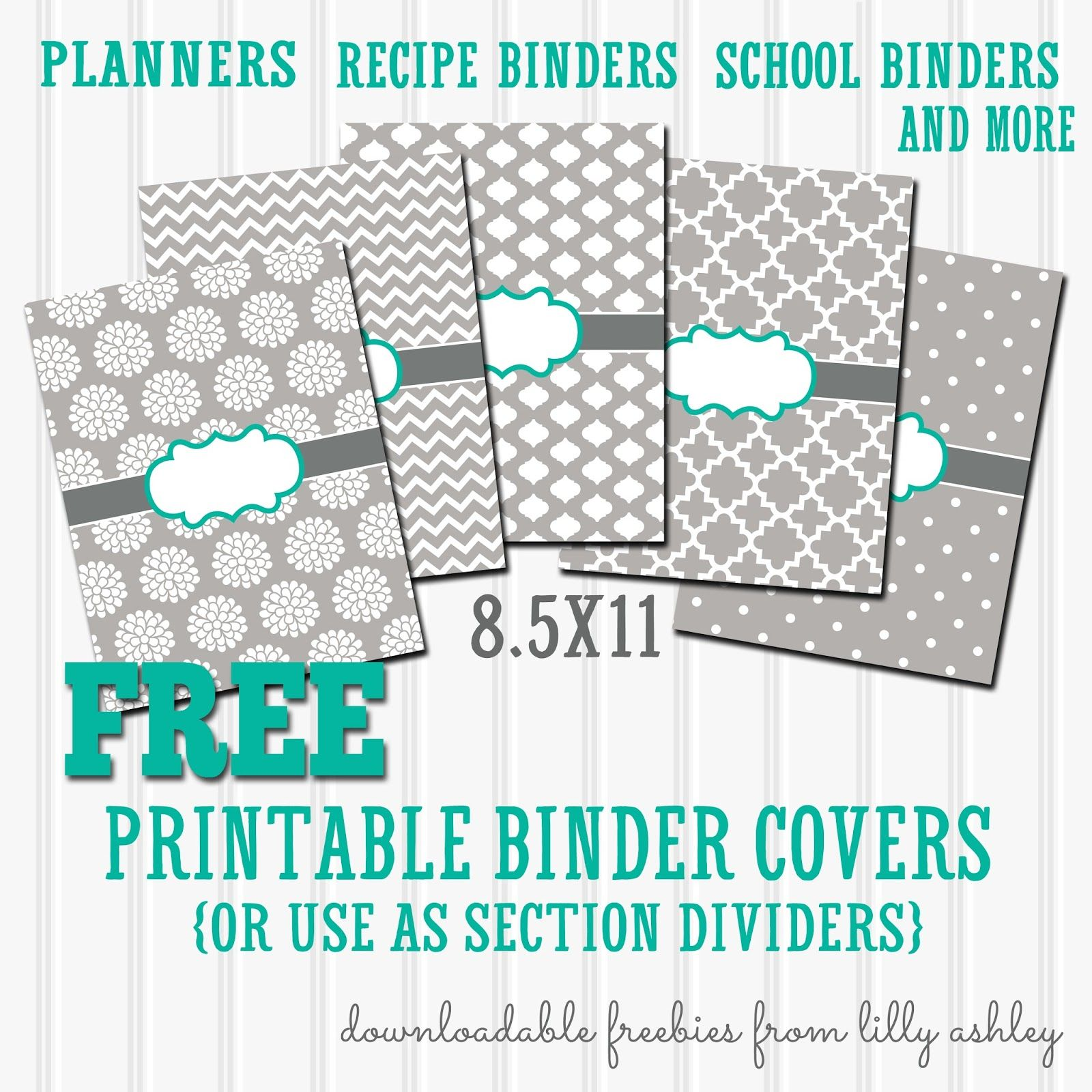 Free Binder Covers Printable Set