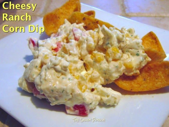 a serving of Cheesy  Ranch  Corn Dip
