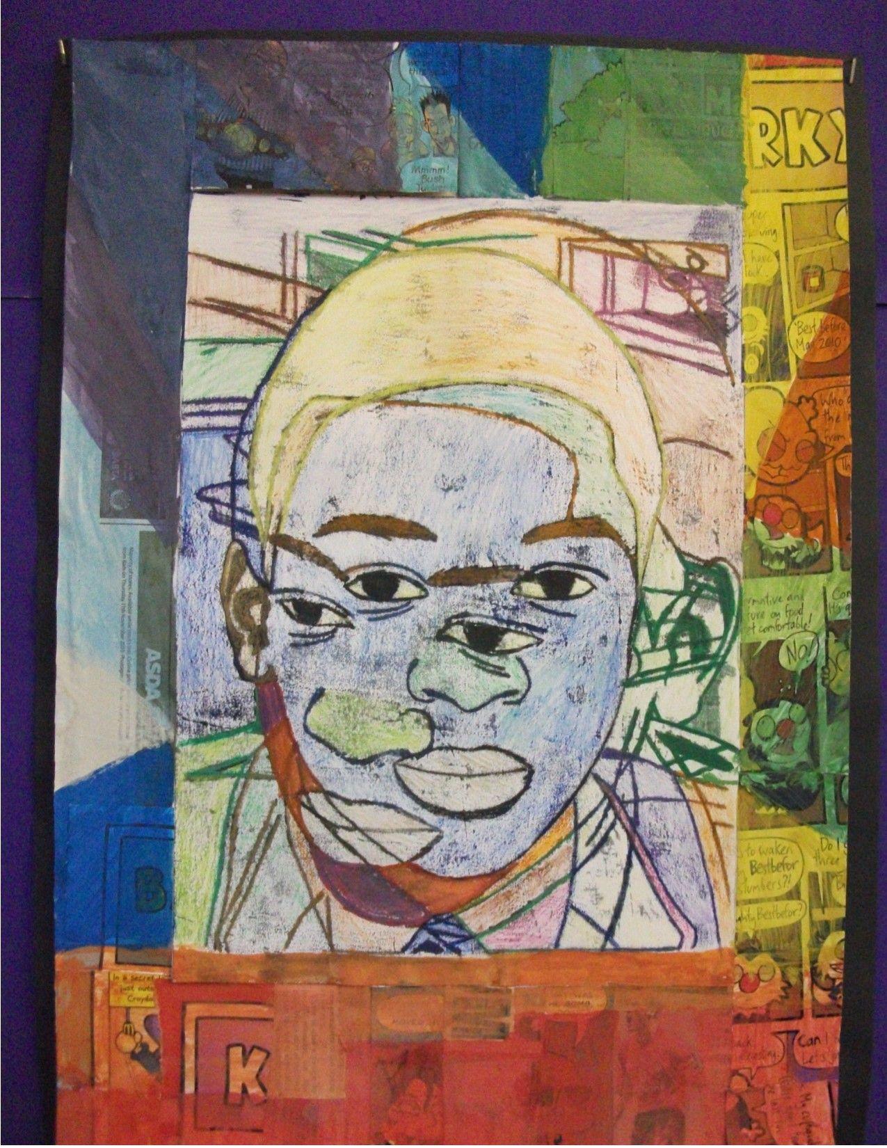 Cubist Portraits Art Ks3art Cubist Prioryschoolart