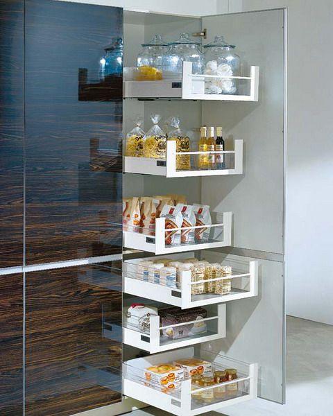 Cozinha arm rio de gavet es para guardar alimento - Armarios para despensa ...
