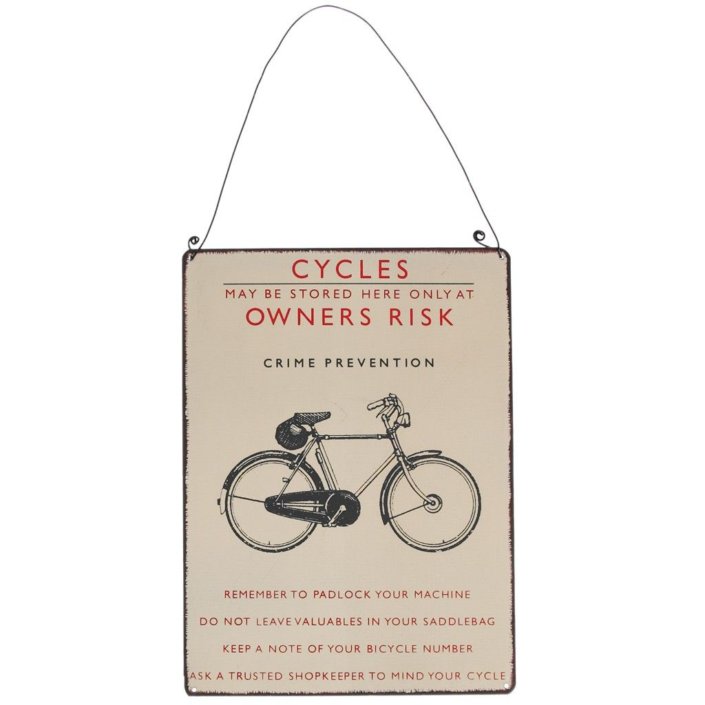 Retro Bicycle Metal Sign Its Like Riding A Metal Signs