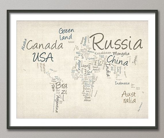 Word world map things i like pinterest texts word map and trademark fine art writing world map canvas wall art gumiabroncs Gallery