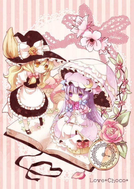 魔理沙とパチュリー パチュリー アニメ魔女 芸術的アニメ少女