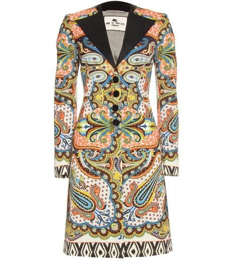 72ffe2af22a054 Over the top but I love it. Etro Print Coat | Style | Fashion, Coat ...
