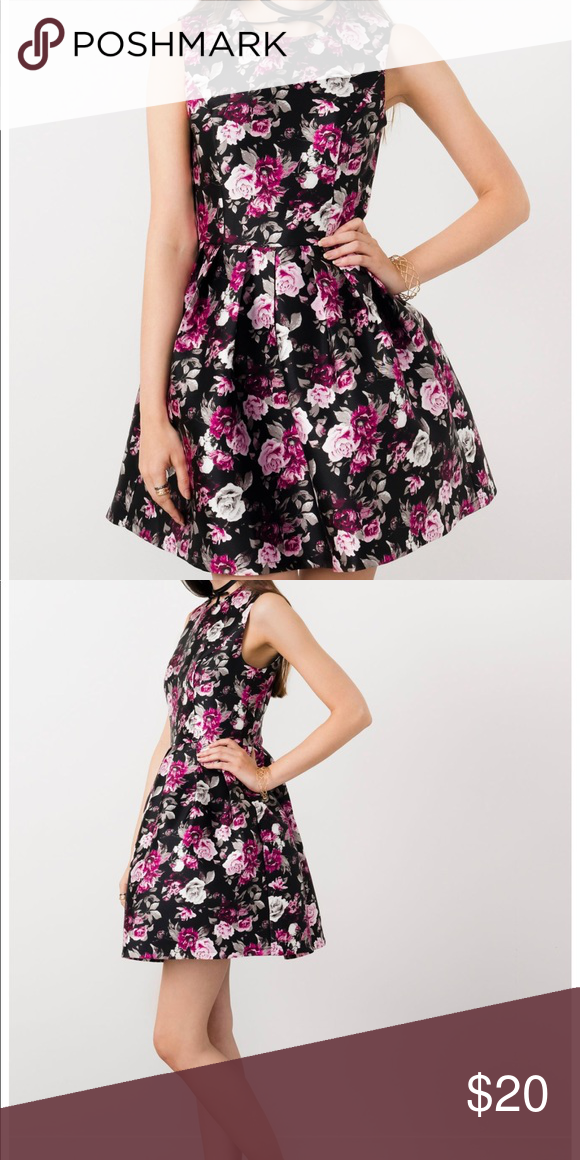 df147390e0bda Suzy Shier Floral Satin Skater Dress New with tag! Suzy Shier Dresses Mini