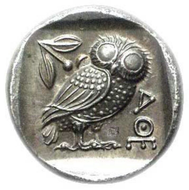 Chapter 24 athenian coin ancient times pinterest coins for Athena owl tattoo