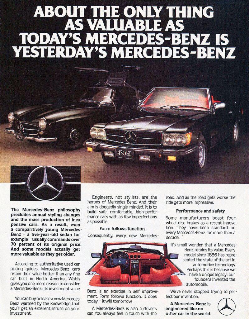 Classic 80s Mercedes advert | Mercedes classic cars | Pinterest ...