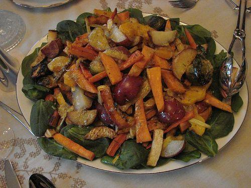 roasted vegetable salad by susie_songbird, via Flickr