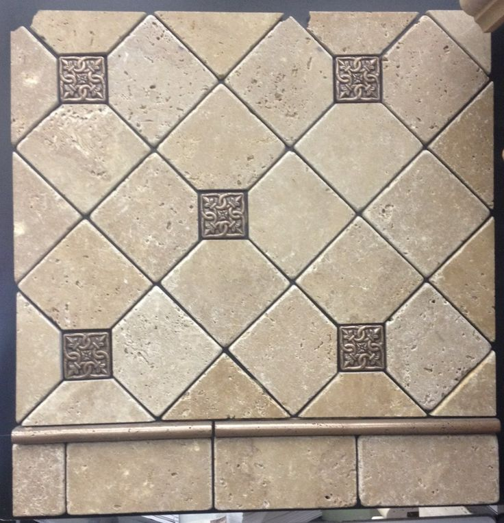 This Topcu Travertine Field Tile And Metal Inserts Really Add A Special Detail