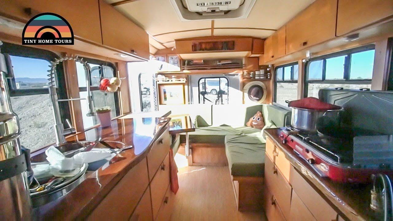 Shuttle Bus Tiny Home Conversion - Full Tour - Better ...