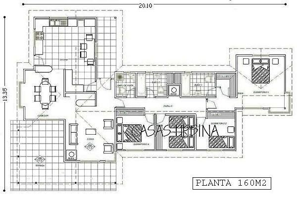 Plano casa 140 a 160 m2 1 piso buscar con google for Casa moderna 140 m2