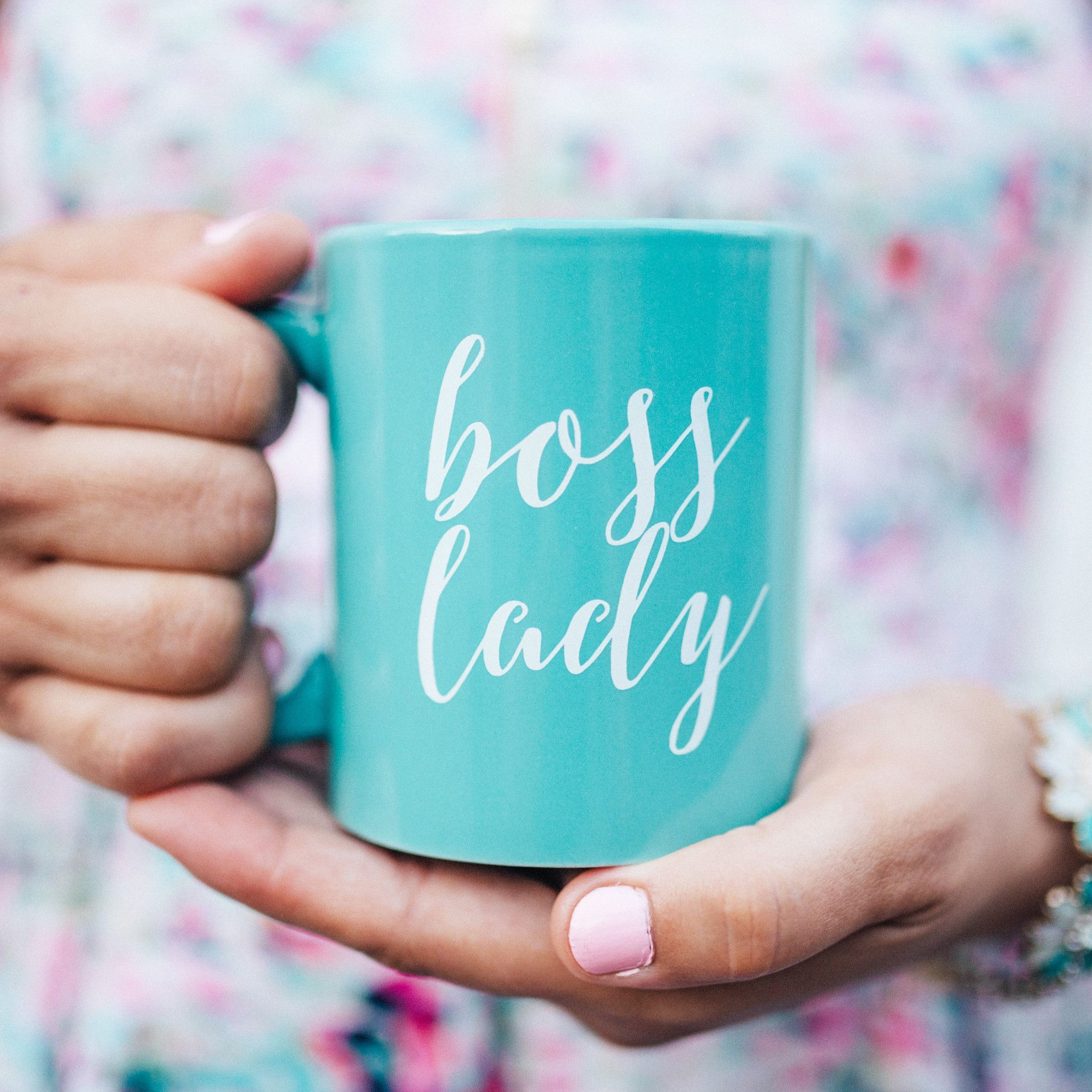 Mint Boss Lady Coffee Mug Mugs By Sweeerdecor More