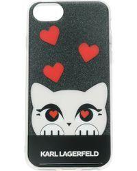 Karl Lagerfeld K/love Iphone 8 Case Lyst