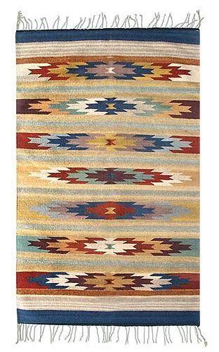Zapotec Wool Rug 4x6 Wildflowers Novica Rugs Hand