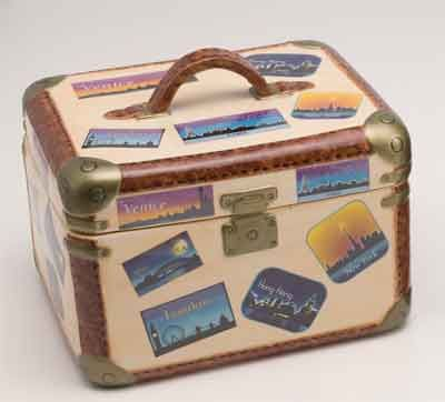 Porcelain Travel Box Cookie Jar