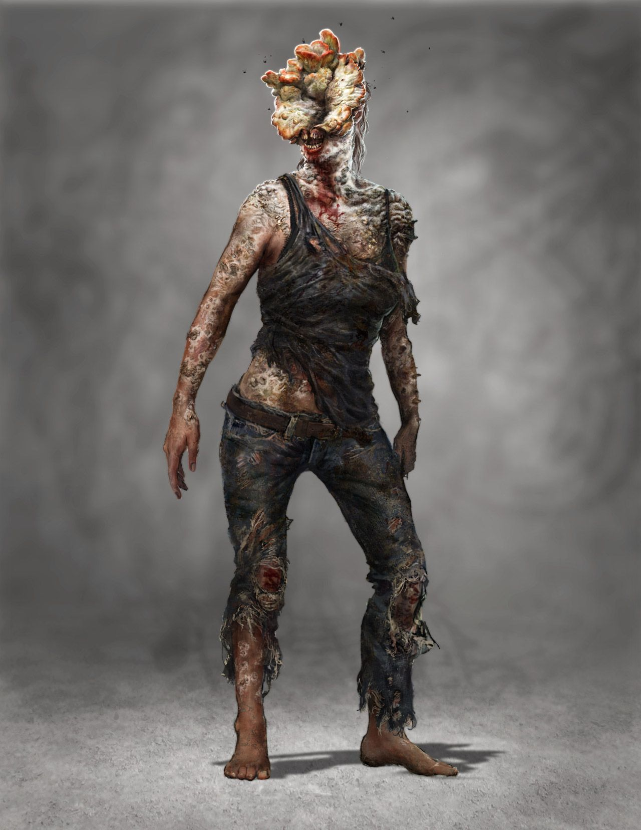 Infected Female concept art  | The Last Of Us in 2019 | Concept art