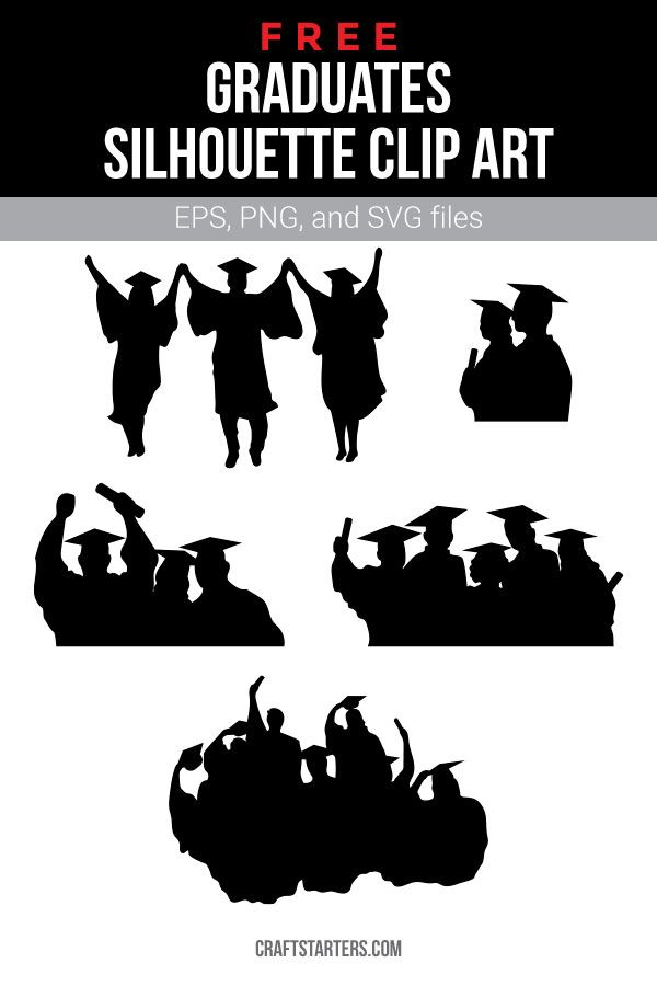 Free graduates silhouette clip art (personal use only ...