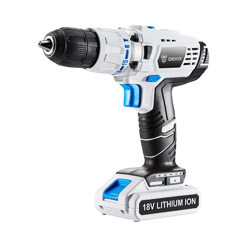 Electric Drill 18v Dc Lithium Battery Power Tools Impact Diy Home Hammer Cordless Drill White Multi Function Screwd Cordless Drill Reviews Drill Cordless Drill