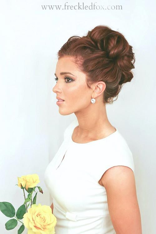 Bun Hairstyles For Curly Hair : 10 gorgeous holiday party hairstyles for every taste curly bun