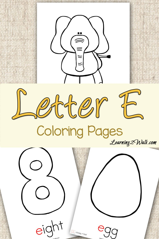 preschool letter activities letter e coloring pages letter