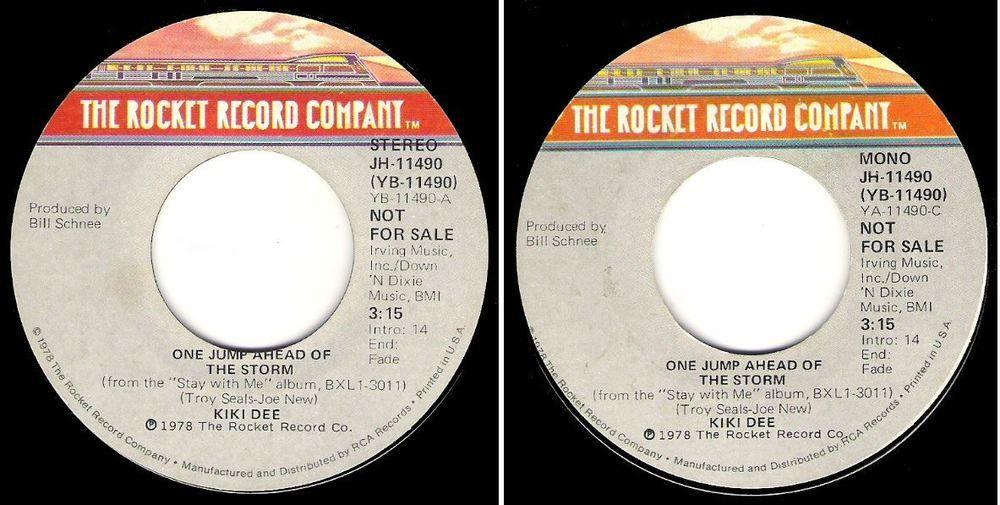 Kiki Dee / One Jump Ahead of the Storm (1978) / Rocket JH-11490 (Single, Promo)…