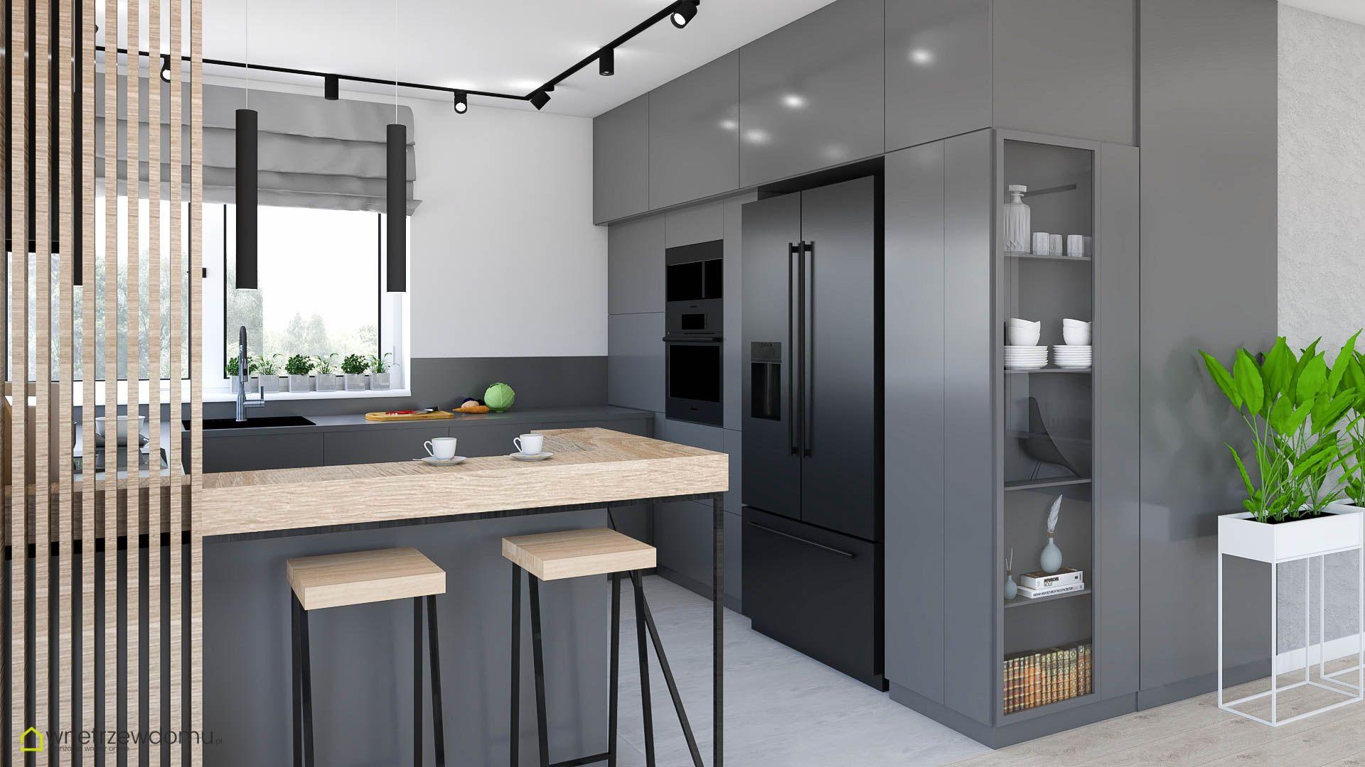 Szara Kuchnia Home Decor Furniture Interior