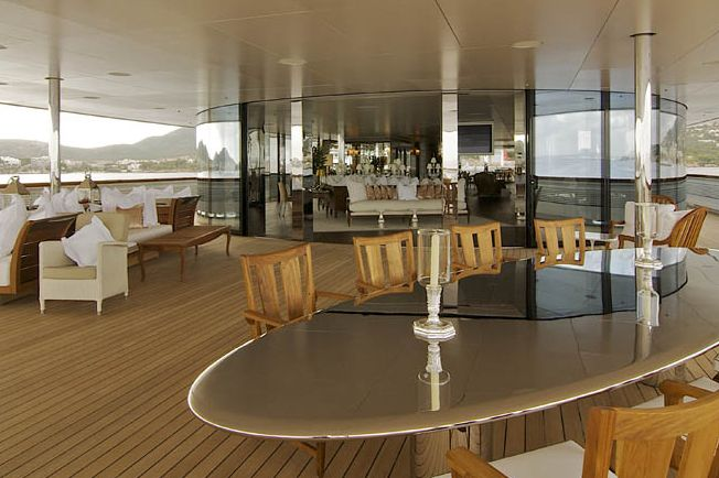 Super yacht 'A' designed by Philippe-Starck