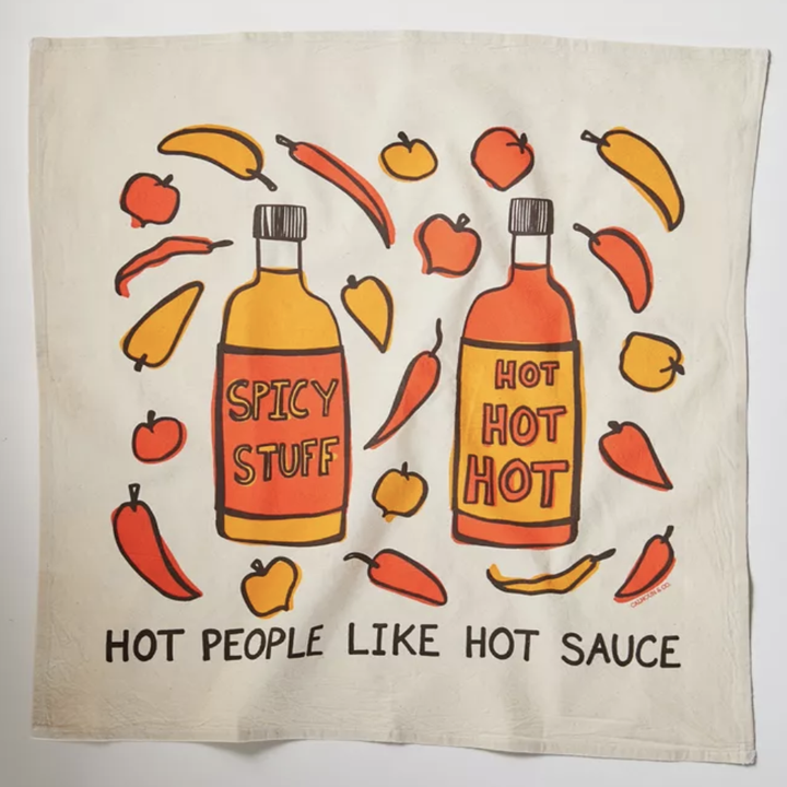 A Hot People Like Hot Sauce Tea Towel That Also Serves As An Important Lockdown Cooking Psa When In Doubt Just Add Hot Sauce Hot Sauce Sauce Baked By Melissa
