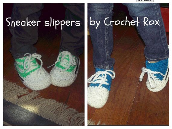 Sneaker Slipper patterns, for child and adult.