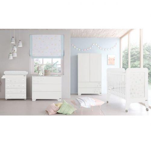 Dormitorio bebé Micuna #spirit. Cuna, bañera, comoda, armario ...
