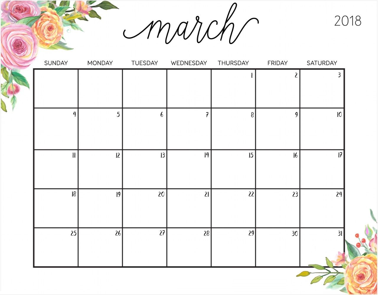 Floral March 2018 Philippines Calendar 2018 Calendars Pinterest