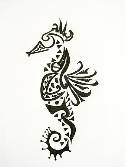 seahorse tattoo designs seahorse design by lindsey w redbubble