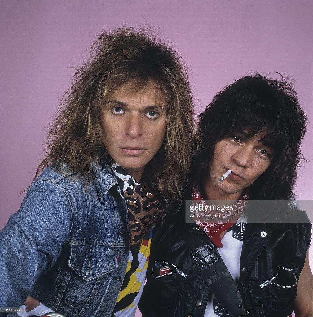 Portrait Of Singer David Lee Roth And Guitarist Eddie Van Halen Of Van Halen David Lee Roth Eddie Van Halen