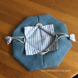 可愛い手縫いの巾着袋の作り方を画像で