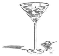 drawings of cocktail glasses google search bar sign ideas rh pinterest com how to draw a martini glass in illustrator Martini Glass Coloring Page