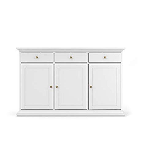 3 Drawer White Sideboard Snow White Sideboard Upcycle Kitchen Sideboard White Furniture Living Room