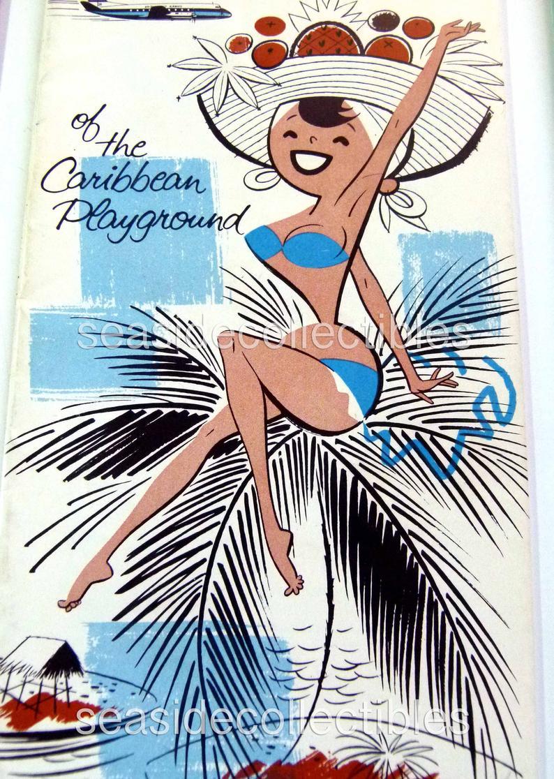 Six 1950S Vintage Travel The Caribbean Tourism Brochures & Booklets Six 1950s Vintage Travel the Caribbean Tourism Brochures & Booklets Tourism a tourism brochure