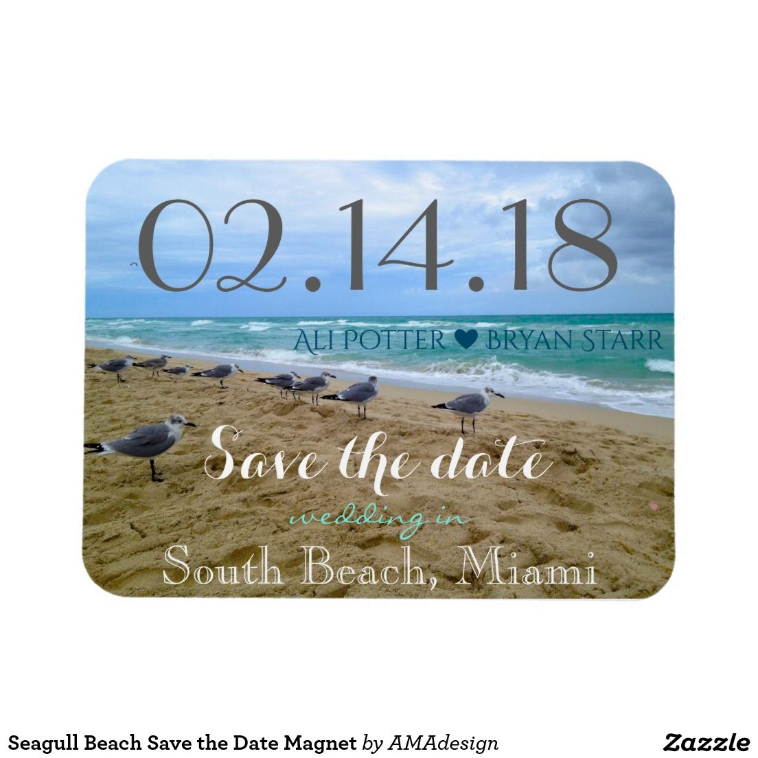 Seagull Beach Save the Date Save the date